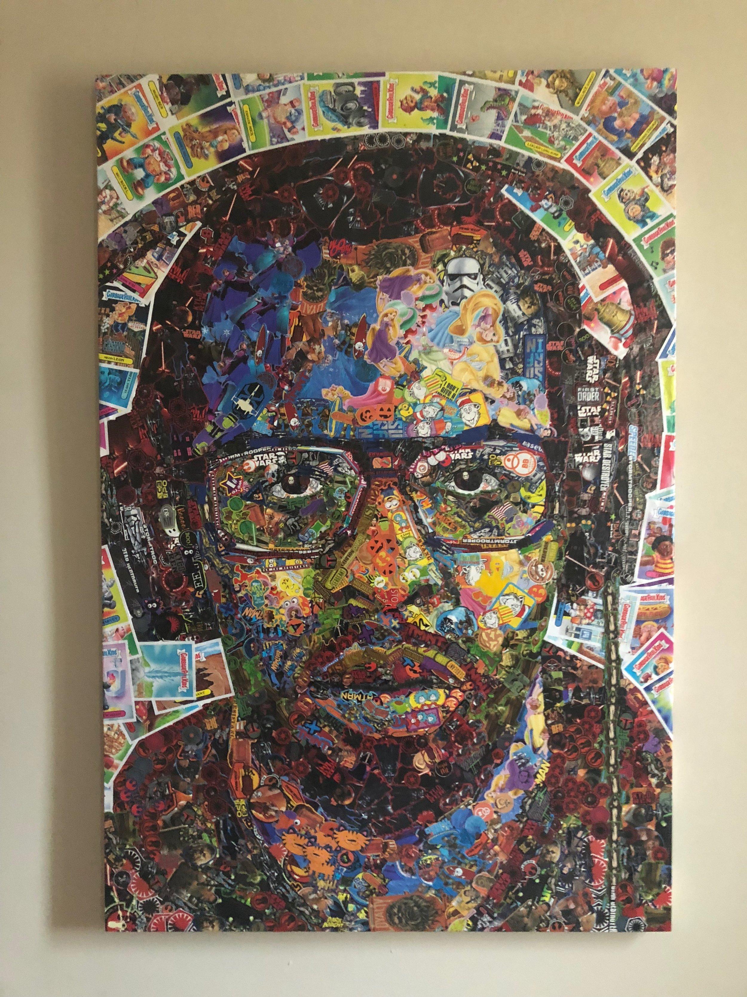 Sticker Portrait by  Noah Scalin
