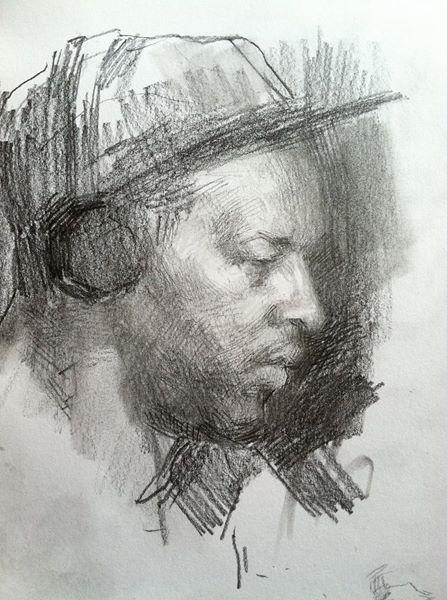 Coffeeshop Sketch by  Aaron Pavelis