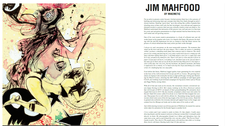 Jim Mahfood interview in Art Whino's  Whino Magazine # 2