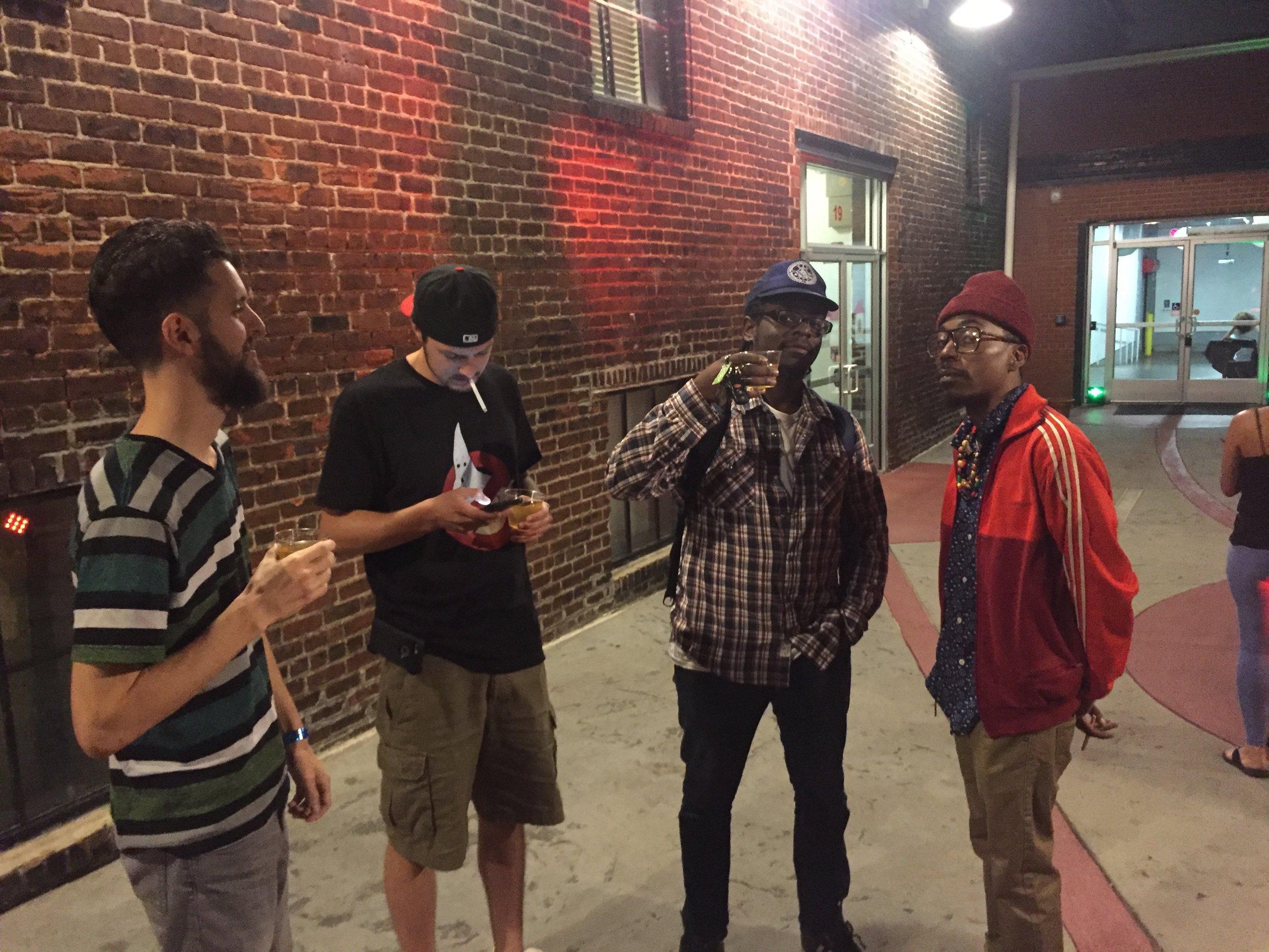 (L2R): Elijah Jai, Gordy Michael, DJ Harrison, Ohbliv