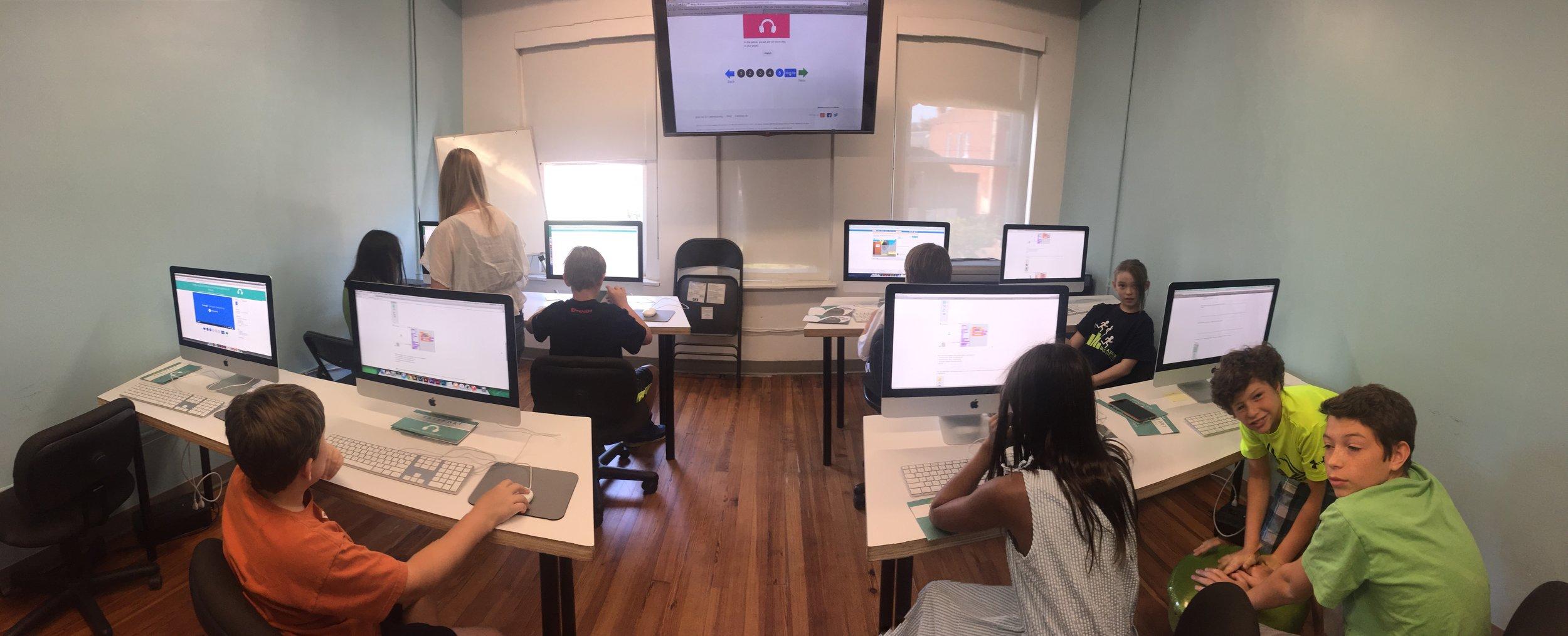 STEM-based coding during Summer Artventure programs, 2016