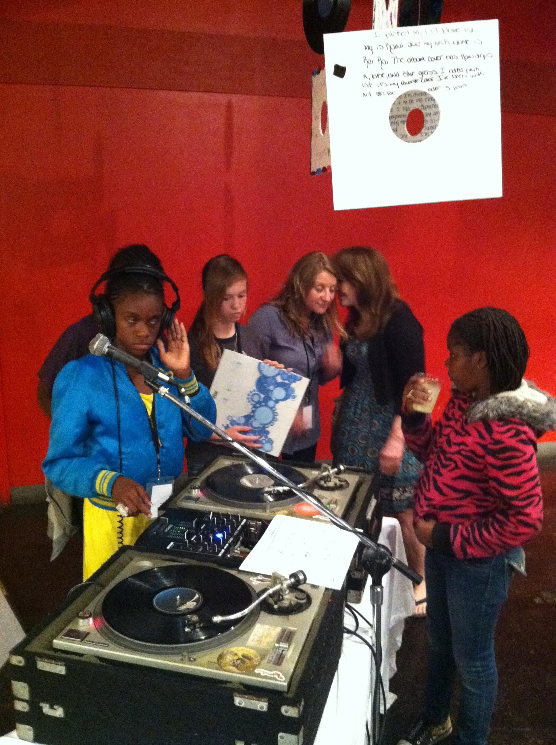 Participants in the DJ and Vinyl Appreciation Class providing the soundtrack for The Big Show (2010)