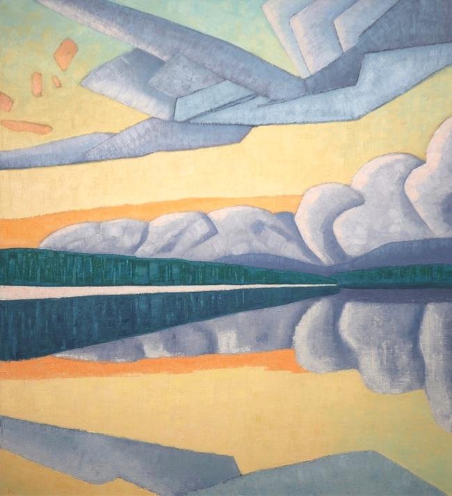 lake sky split