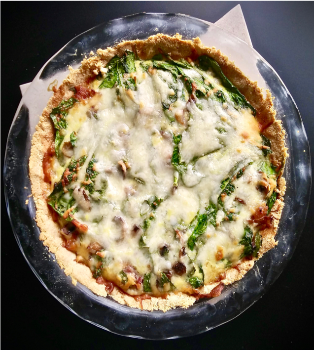 QUICHE 2.0: BACON, MUSHROOMS AND SPINACH -
