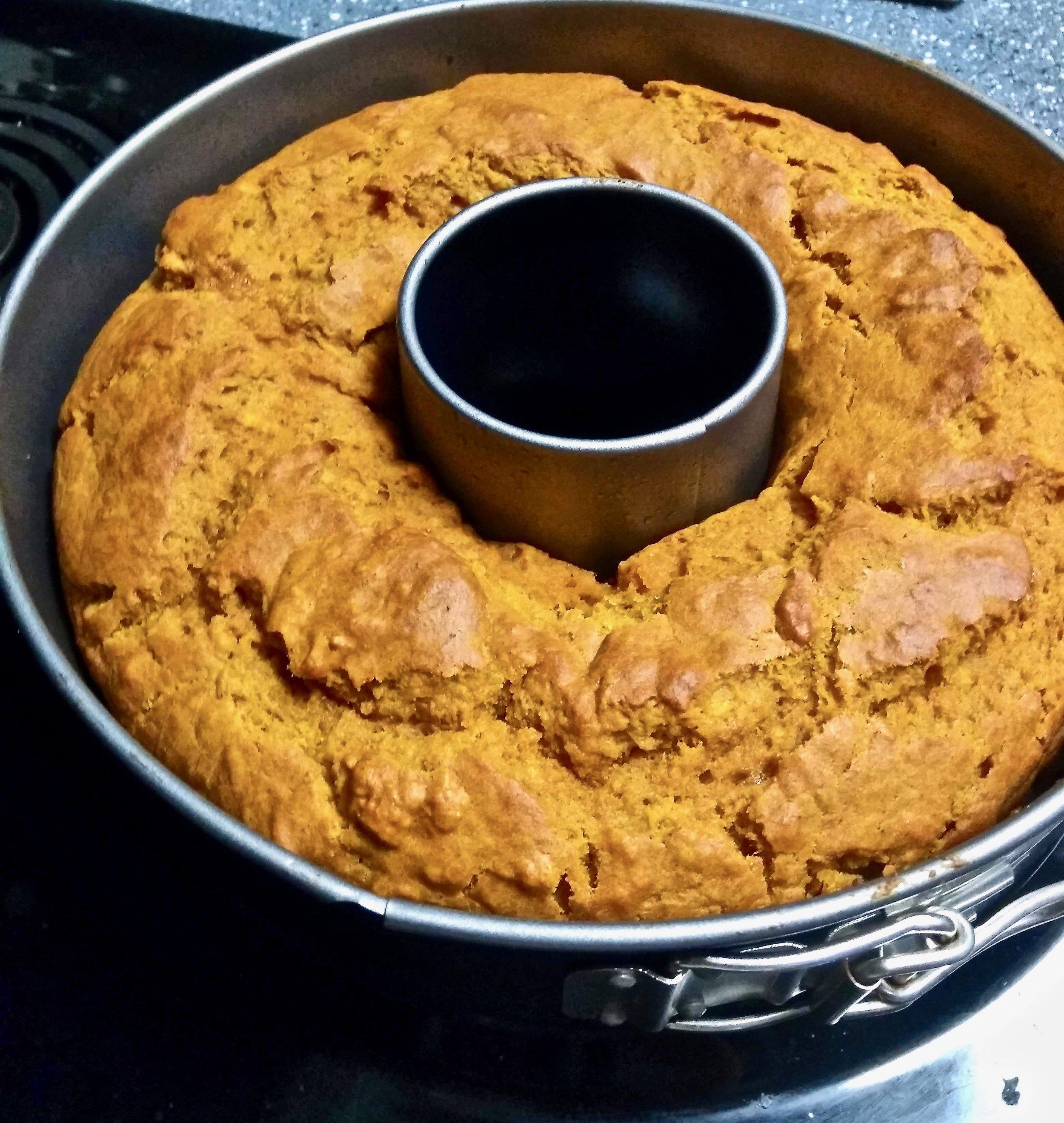 Kitchen Scratch Pumpkin Bundt Cake Baked