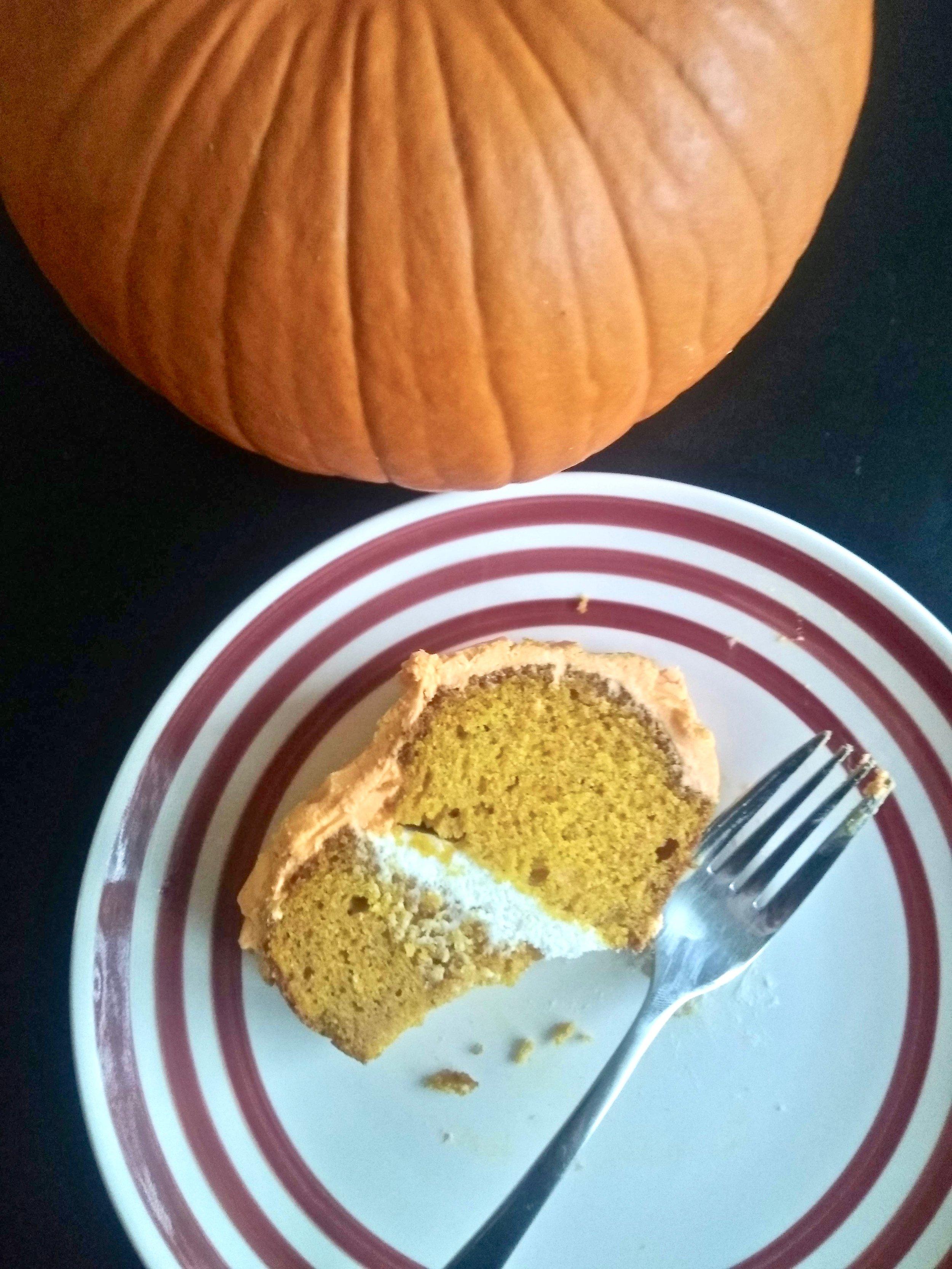 Kitchen Scratch Pumpkin Bundt Cake Slice