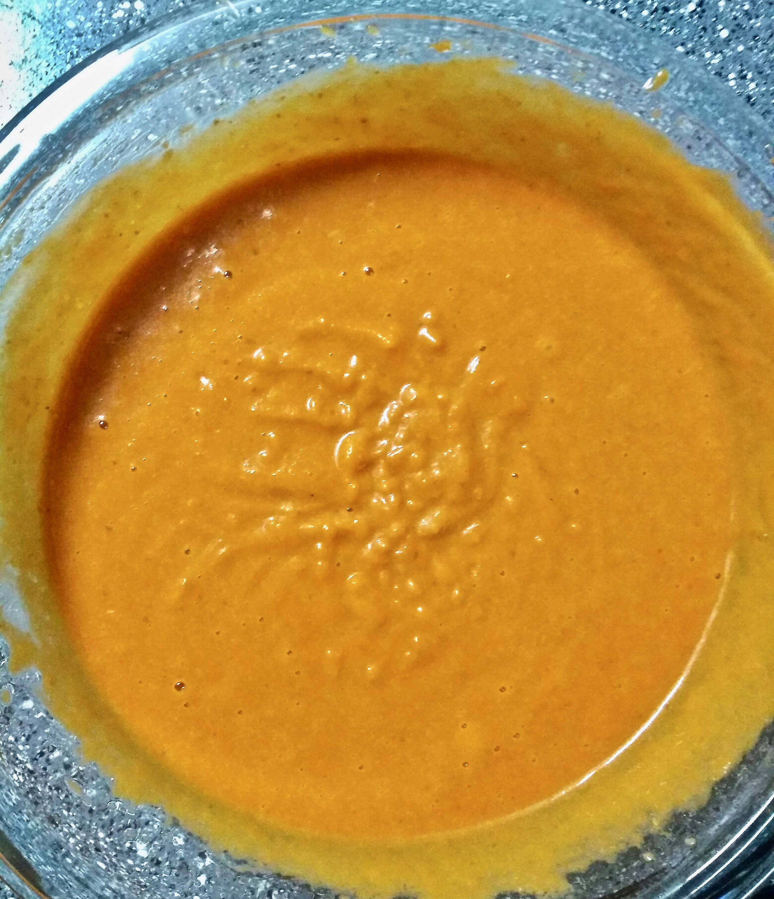 Kitchen Scratch Pumpkin Bundt Cake Wet Ingredients