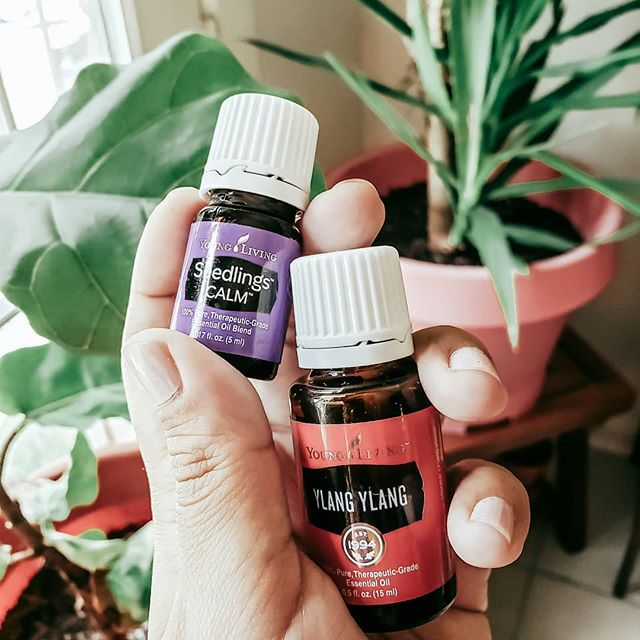 I just opened my Young Living order and I'm so glad I chose 2 oils I didn't have in my collection! #ylangylang will go in an all natural perfume and Calm from YL's Seedlings baby line might go in there as well! I can't wait to diffuse this for Christian 🤗