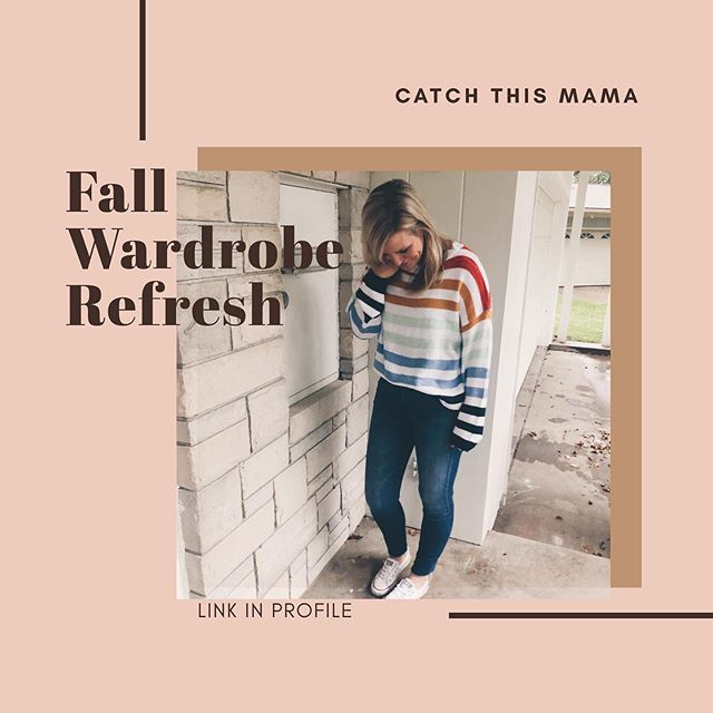 Fall Wardrobe Refresh just dropped! We shared a BUNCH of the outfits in our stories today. Let us know which one is your favorite!