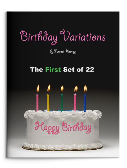 Birthday Variations First Set Piano Book, Forrest Kinney