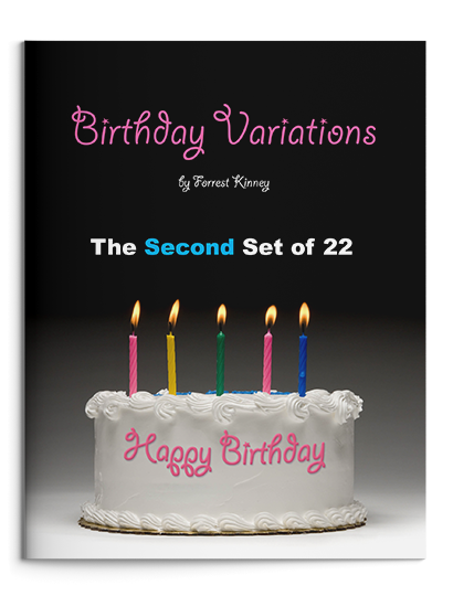 Birthday Variations Second Set Piano Book, Forrest Kinney