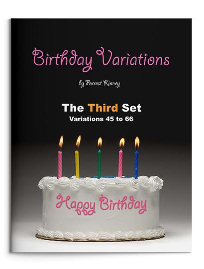 Birthday Variations Third Set Piano Book, Forrest Kinney