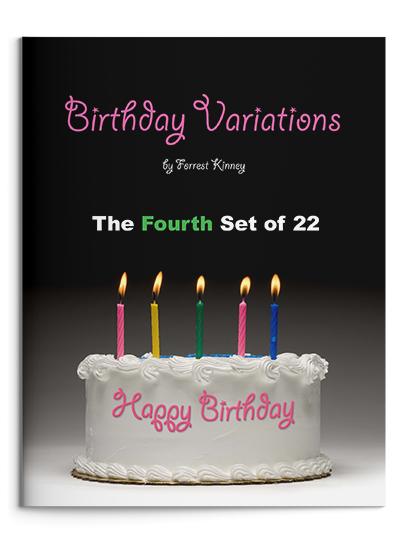 Birthday Variations Fourth Set Piano Book, Forrest Kinney
