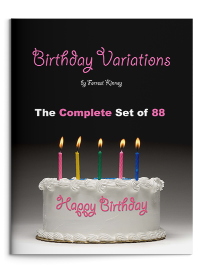 Birthday Variations Complete Set Piano Book, Forrest Kinney