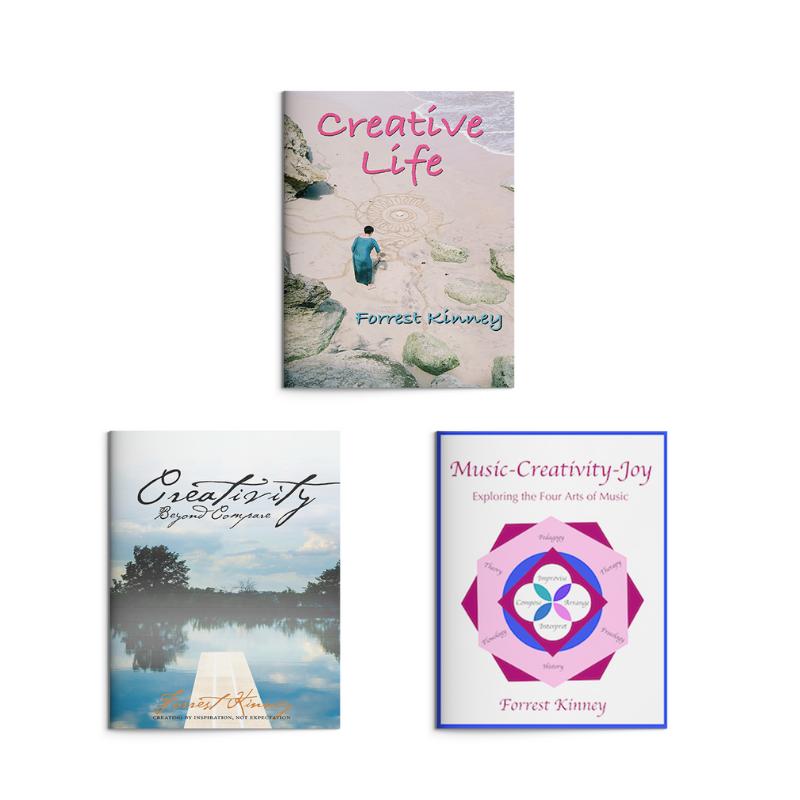 Forrest Kinney books on creativity cover mockups