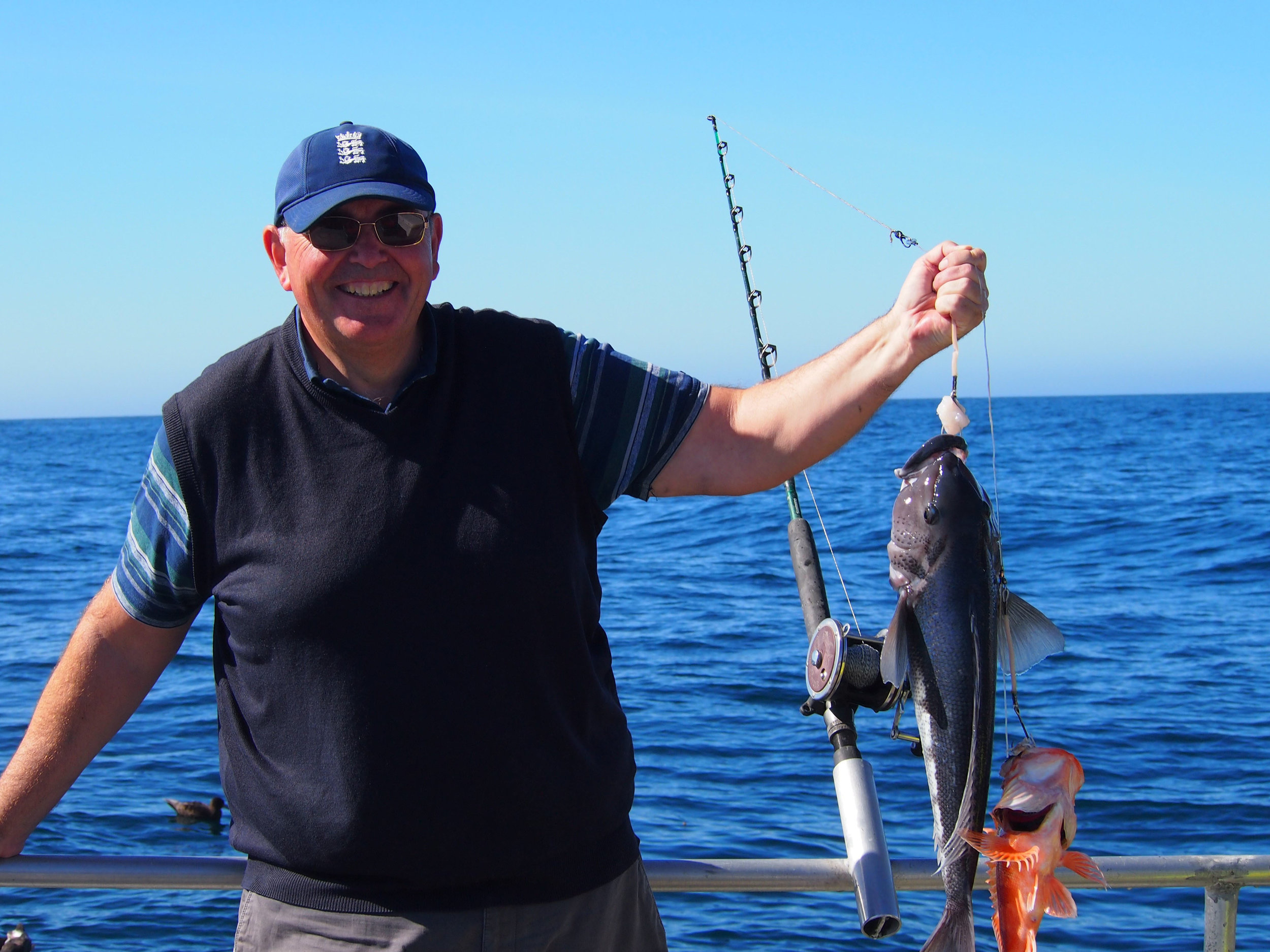 Catch a husge blue cod on our fishing trips