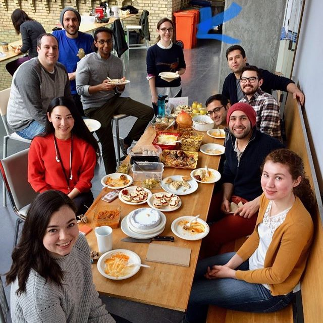 Welcome to the lab Louise #lab potluck