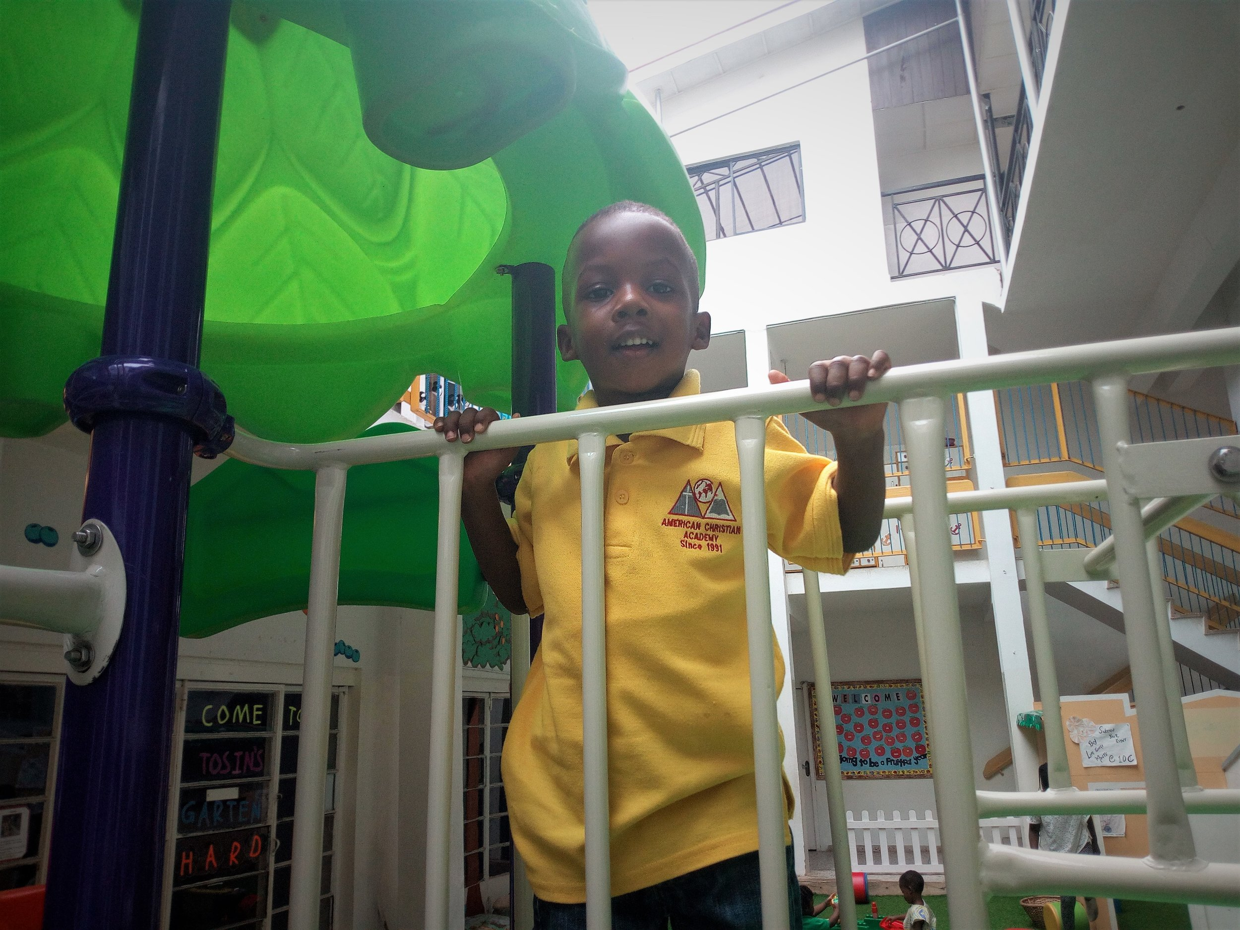 Preschoolers love the jungle gym!