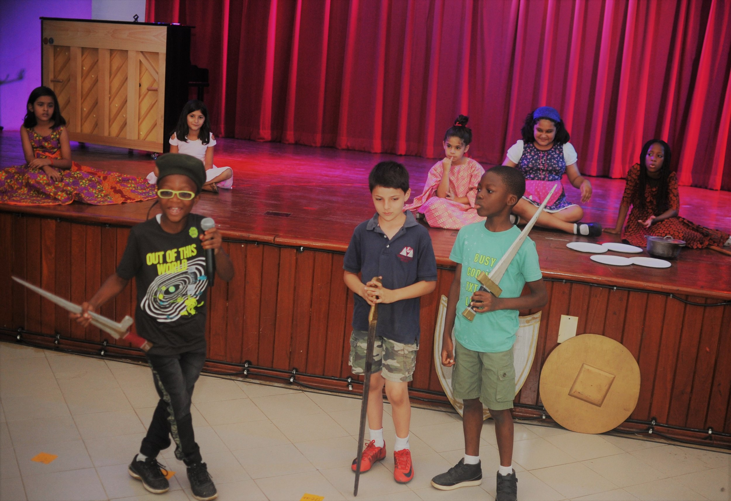"""Junior School Assembly: Third grade presented a wonderful play based on the book, """"Stone Soup!"""" They also entertained us with song and dance! Great job, third graders!"""