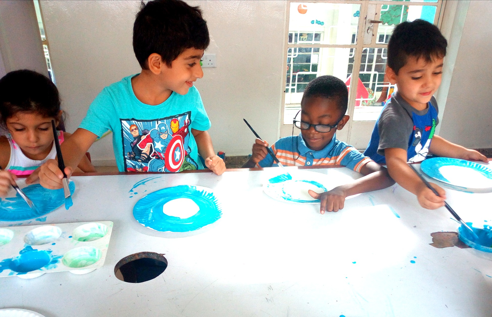 The KG classes painted peacocks!