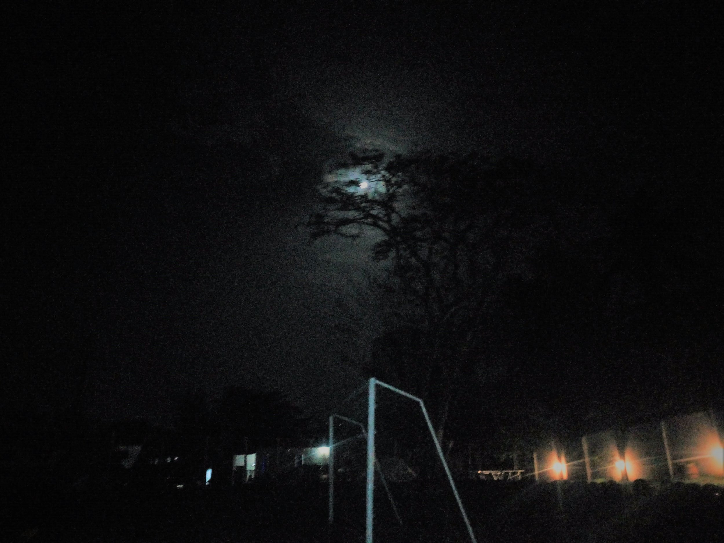 A full moon brightened the night sky as students sat around the bonfire telling jokes and not-so-scary stories! LOL!