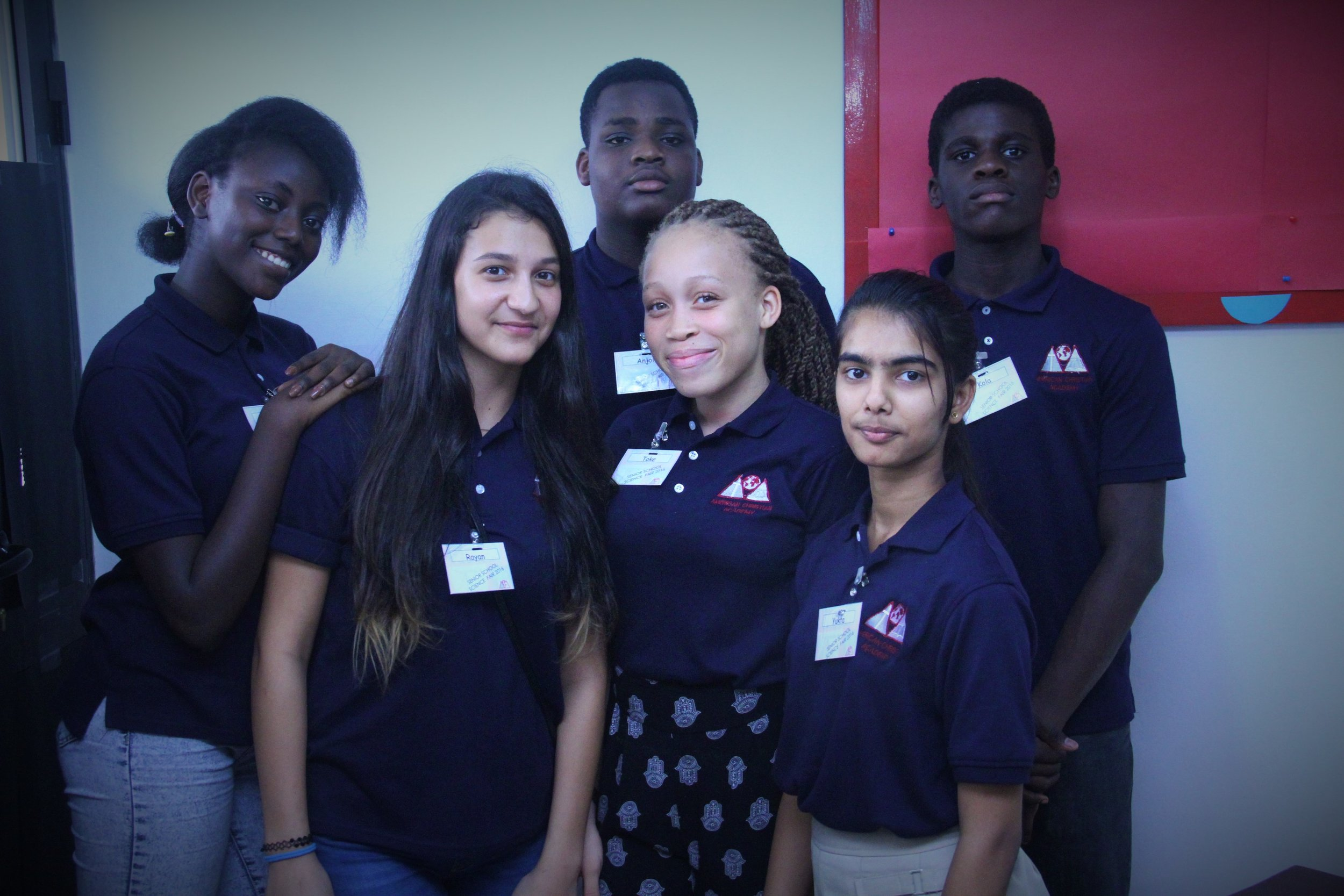 Senior School Students at Science Fair