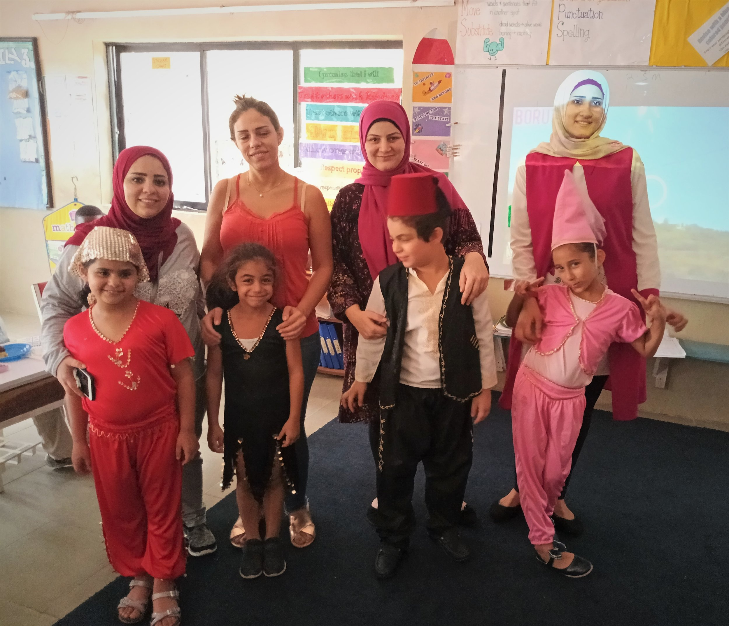 1st graders had so much fun learning about the Lebanese Culture from our Lebanese parents and students!