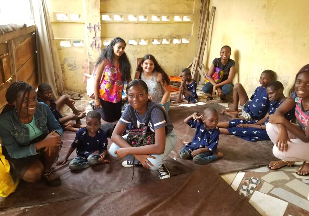 """9th grade students donated 25% of their marketing project proceeds to the children at """"Mercy of God's Home"""" and spent some quality time with the kids."""