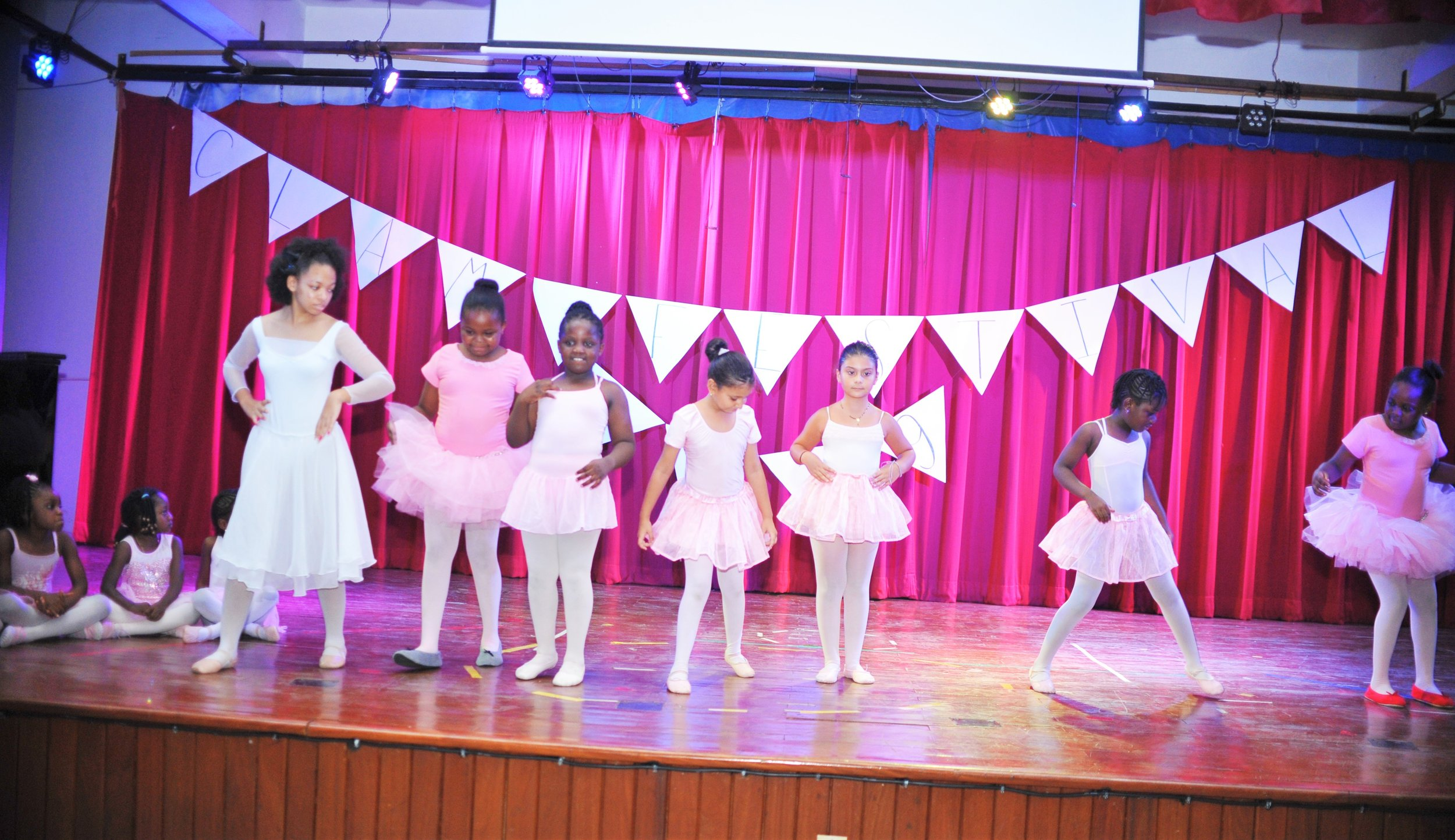 "Our junior ballerinas were ""Looking for the Rainbow!"" as they danced beautifully with the older ballerinas leading them."