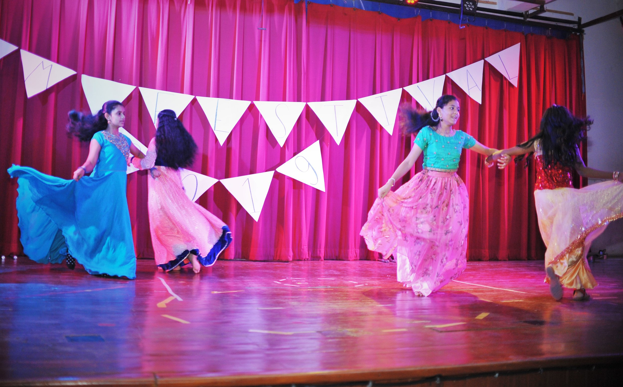 Our Indian girls gave a wonderful presentation with their gorgeous gowns and exciting dance moves!