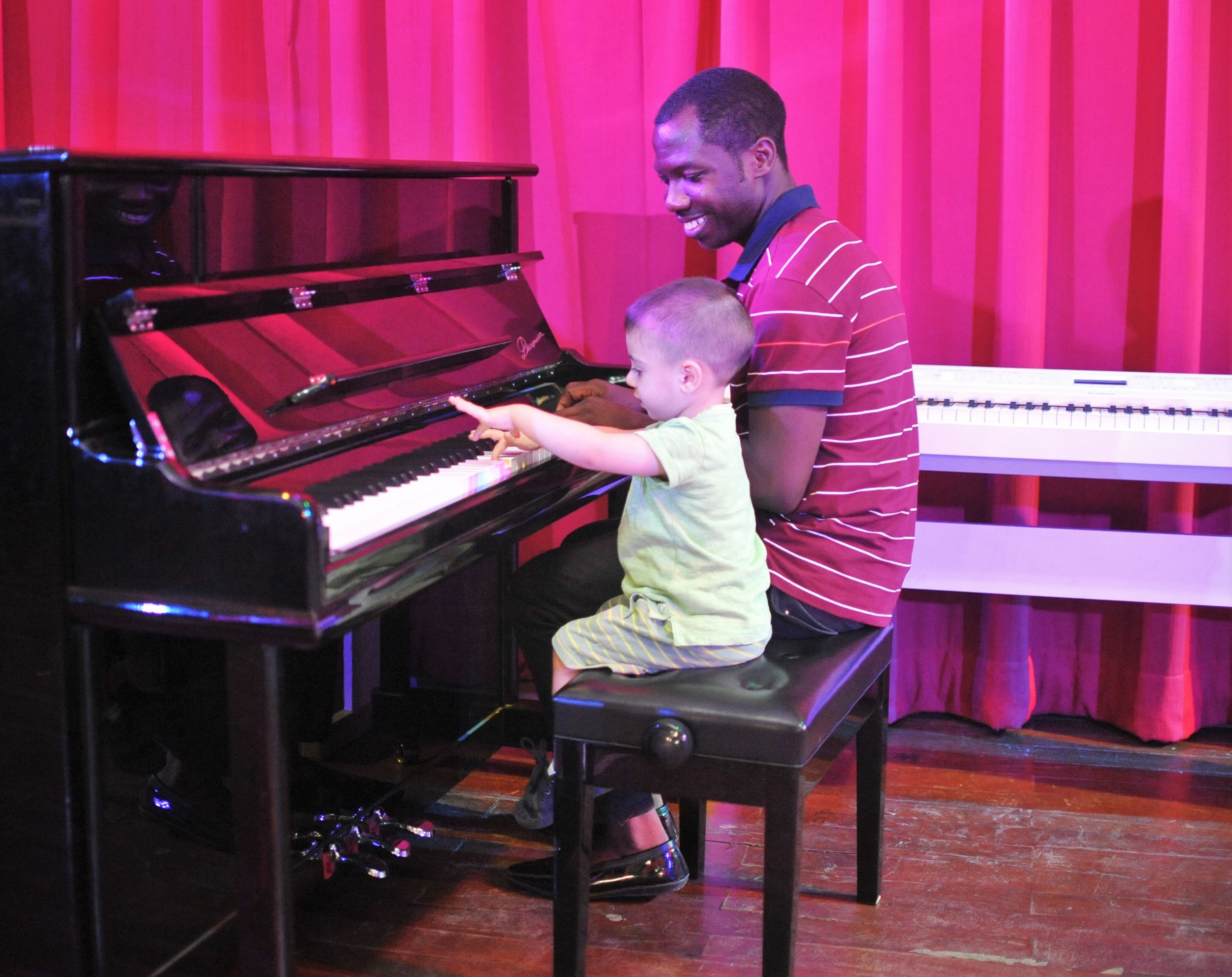 Pre-Nursery students visited JC Hall for a jam session with Mr. Joseph on piano!
