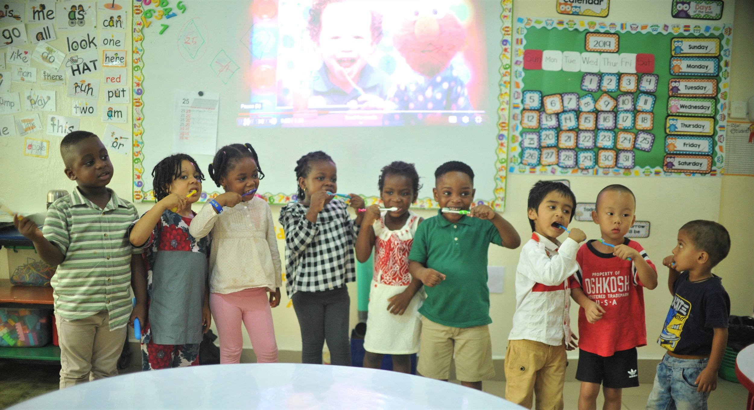Nursery students learned about the importance of dental hygiene!