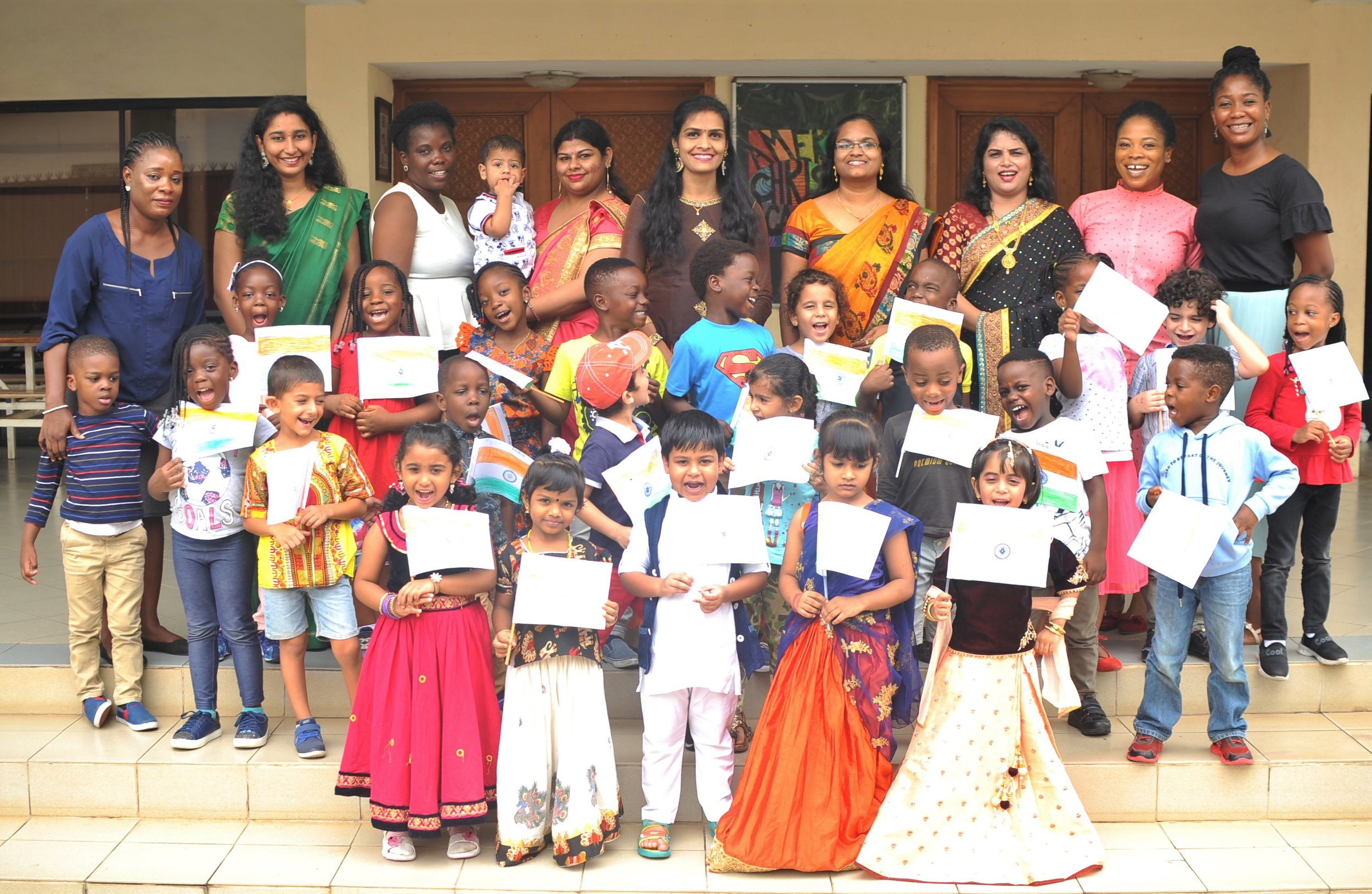 Pre-Kg students were delighted to have a visit from Indian parents who shared various aspects of the Indian culture with them.