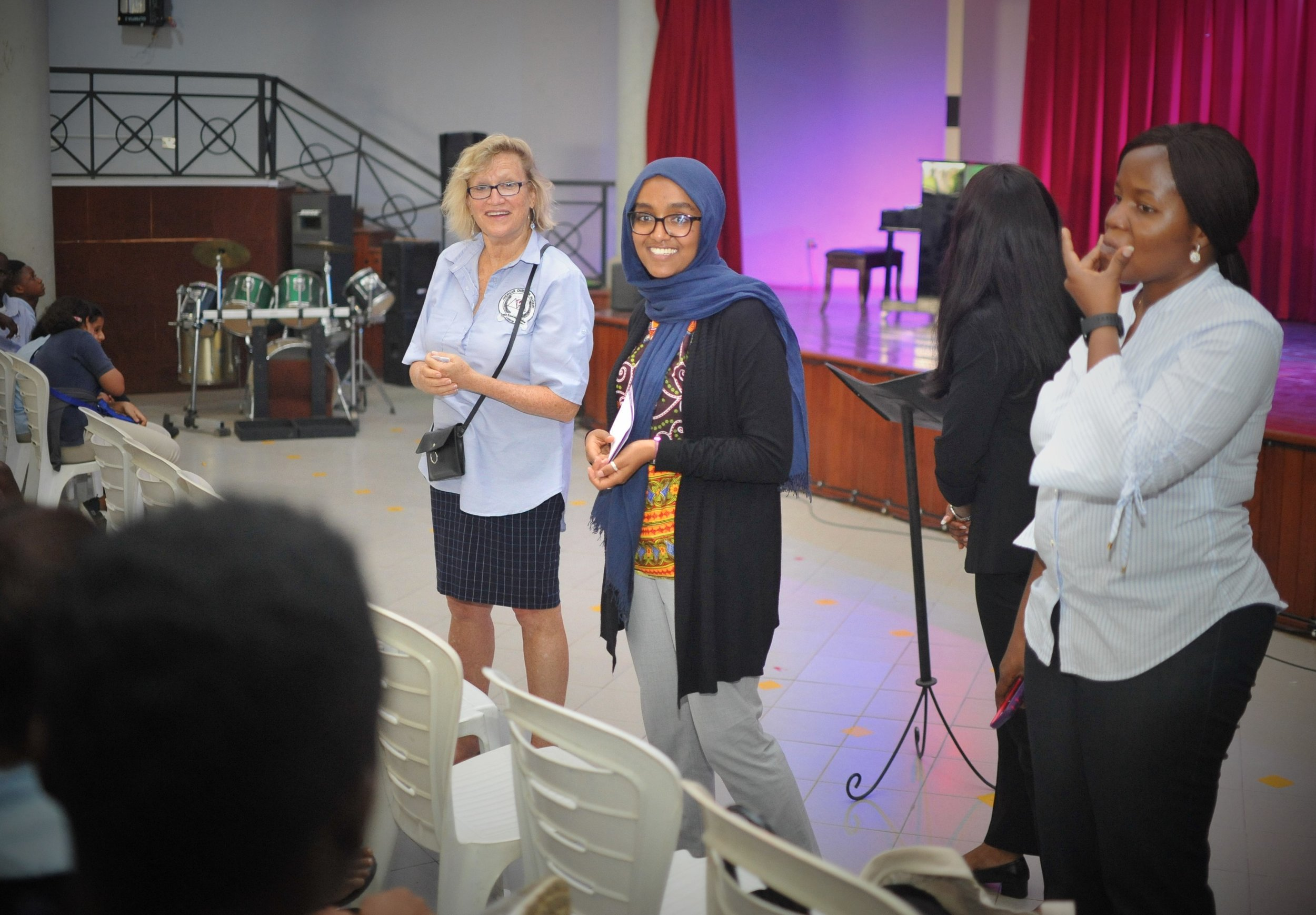 During assembly, Senior school students gathered information from the US consulate officers from New York University, NYU at Abu Dhabi in the UAE.