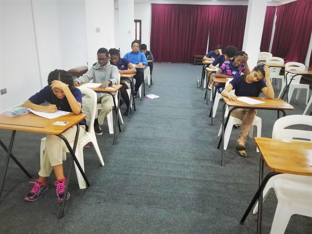 IGCSE, AS & A-Level students taking their Cambridge International Exams.