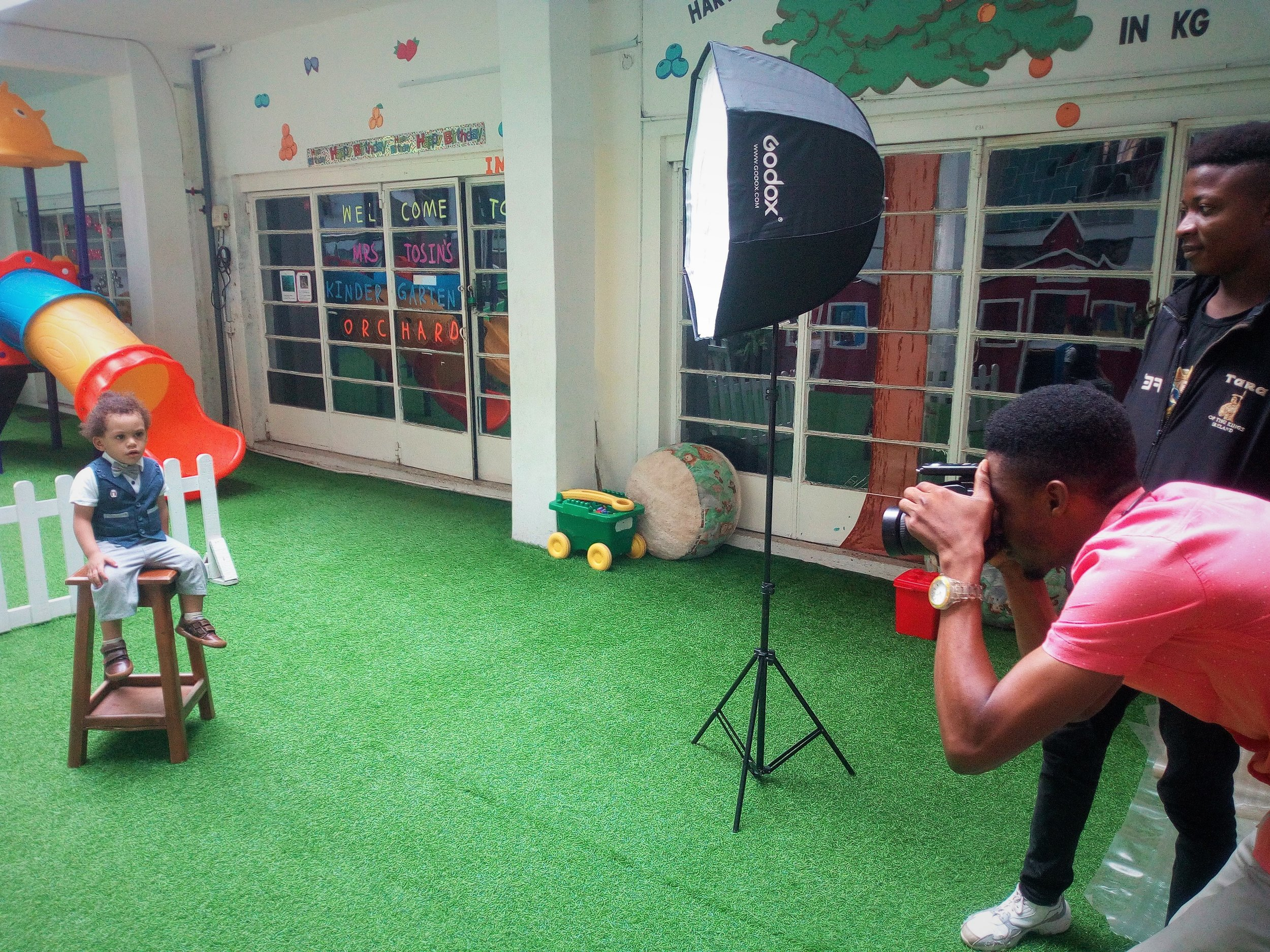 Preschoolers sat for school portraits this week! Photo albums will be available for purchase very soon!