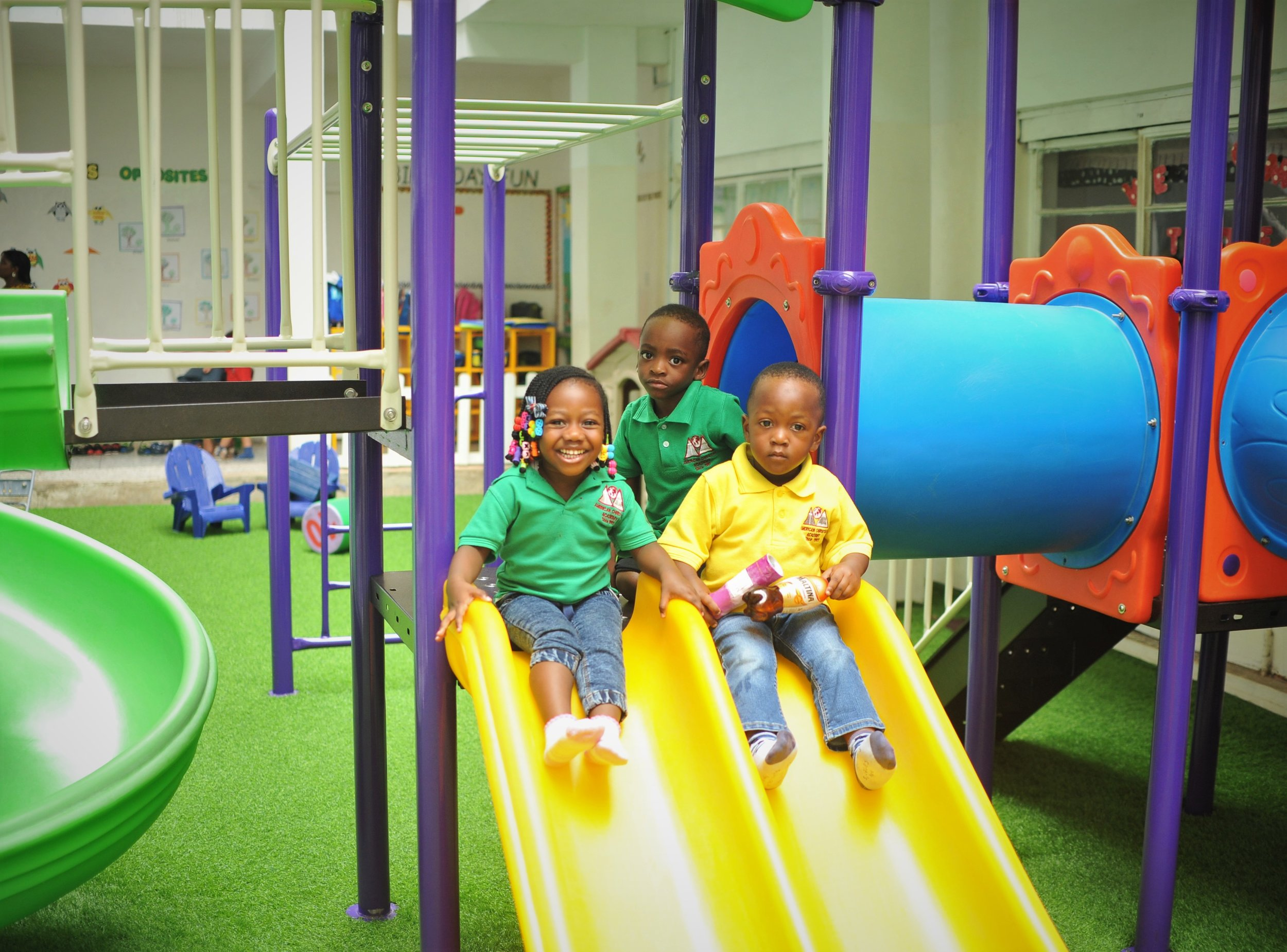 Preschoolers enjoying their break time!
