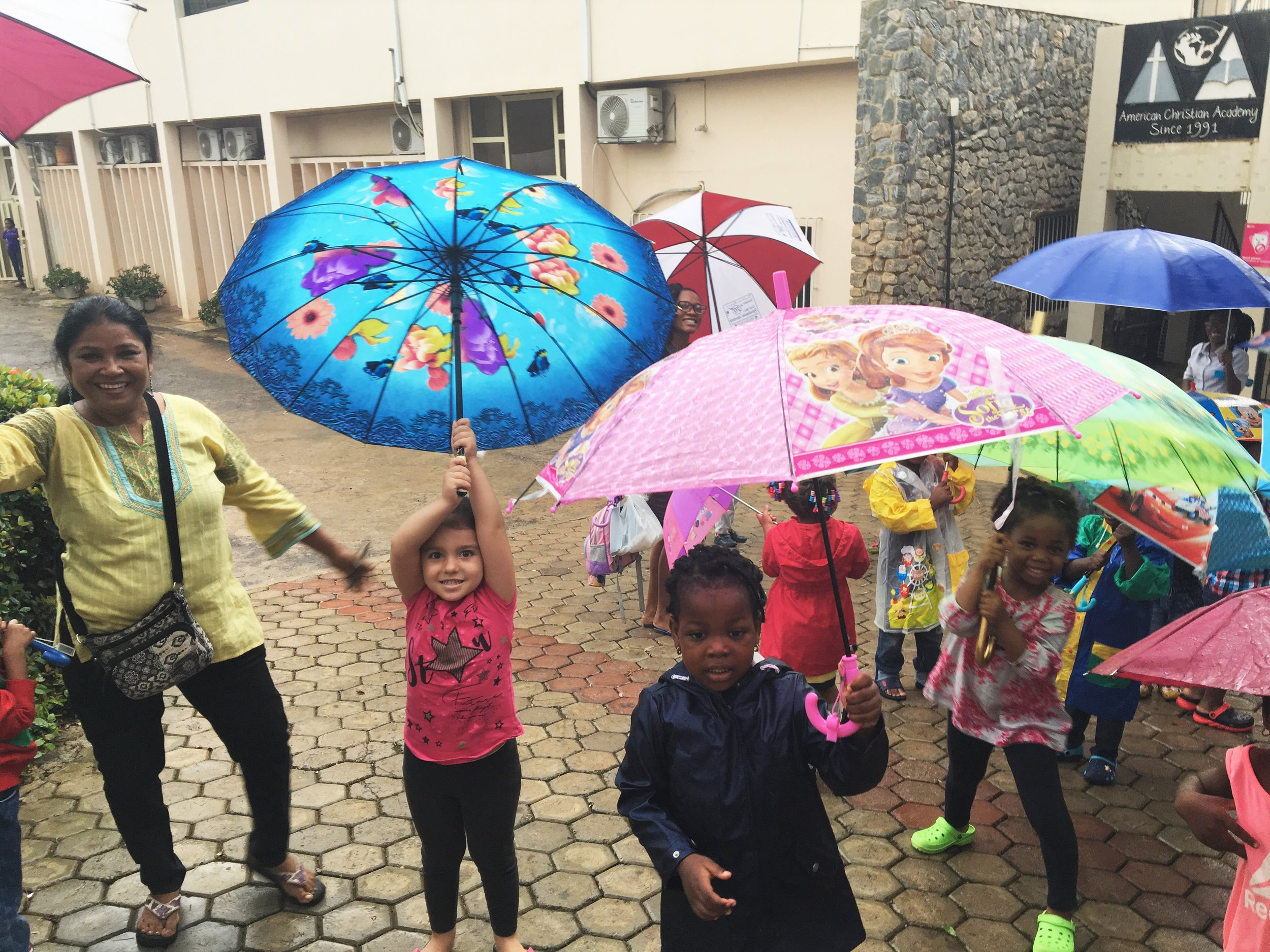 Nursery children prayed for rain. And do you know that it really rained on the planned date for Rainy Day? God is so good!!