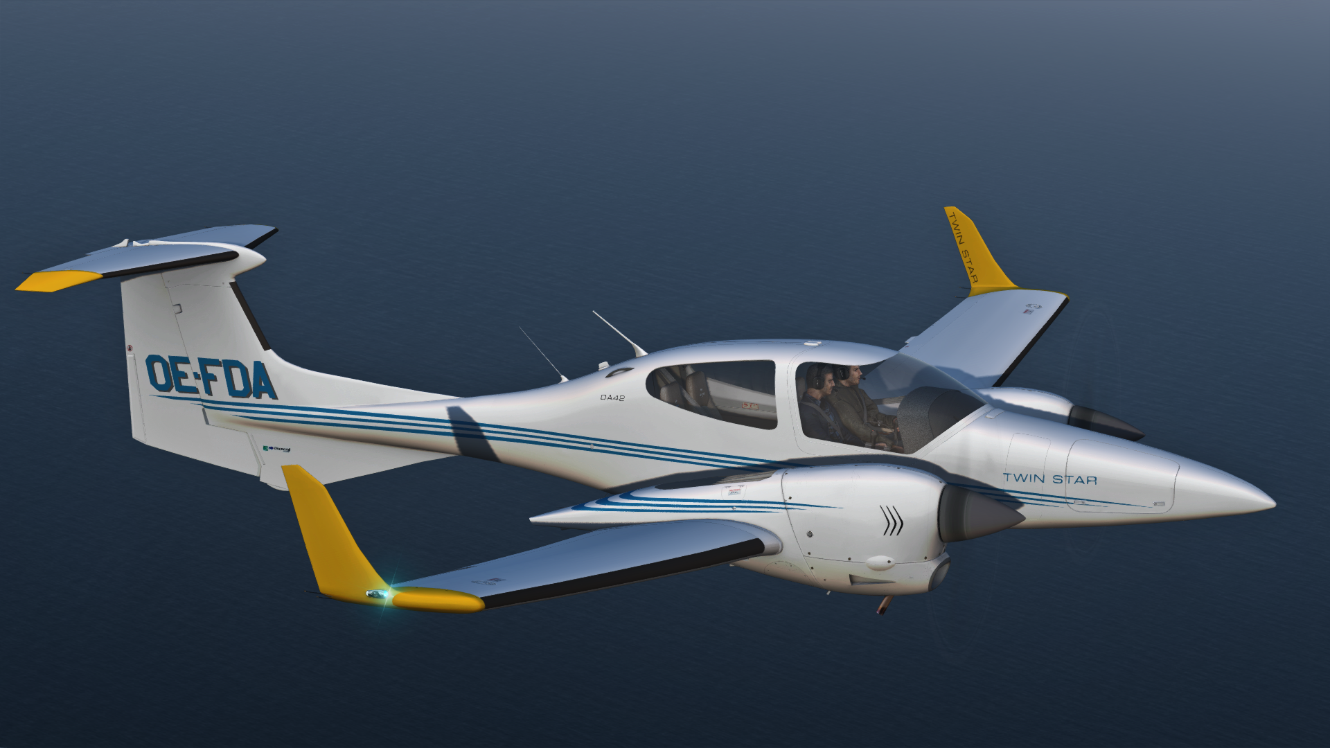 Alabeo Diamond DA42 Twin Star - Click the download button to start downloading the Reflection Profiles for the Alabeo DA42 Twin Star.