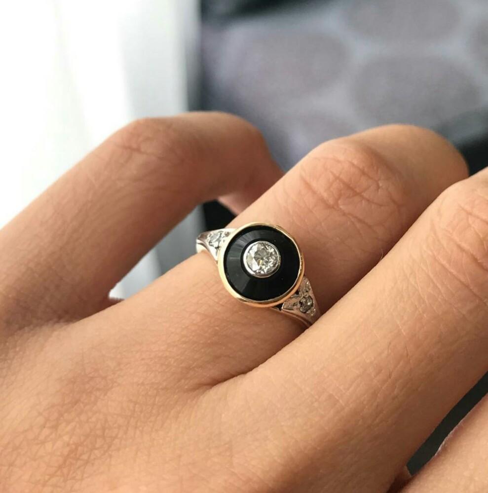 Art Deco Bullseye Ring
