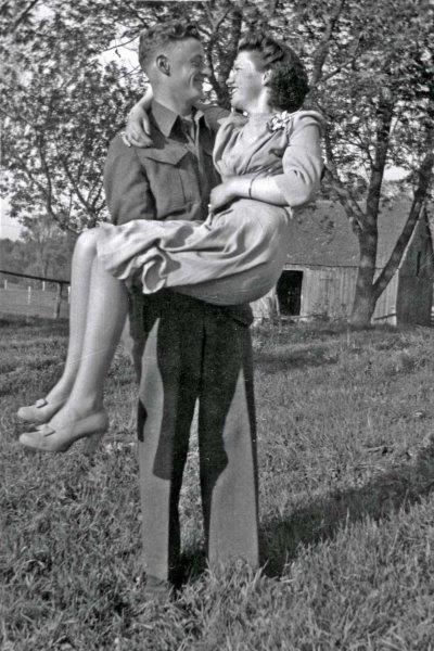Herman Burke and Edna Binette on their wedding day