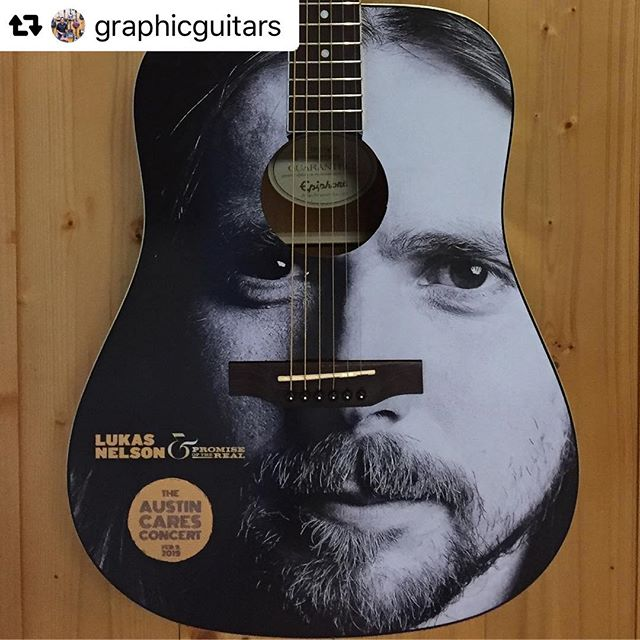 Thank you, @graphicguitars for this fabulous work! This is one of two amazing guitars that will be available at the #austincaresconcert on Feb 9 at @acllive! Even @lukasnelsonofficial said he wants one! And the other guitar is a massive surprise! We'll tell ya later or just get your donor package at www.austincaresconcert.com and come find out live at the event! (Live link in bio.) Thanks to @gibsonguitar! #charity #musicforcharity #HAAM #SUPERHEROKIDS #STEPONWARDFOUNDATION #acl #acllive #lukasnelson #gibsonguitars @gingerleighband @love.austintexas @myhaam @superherokids @bmurray10122018 #blackfret