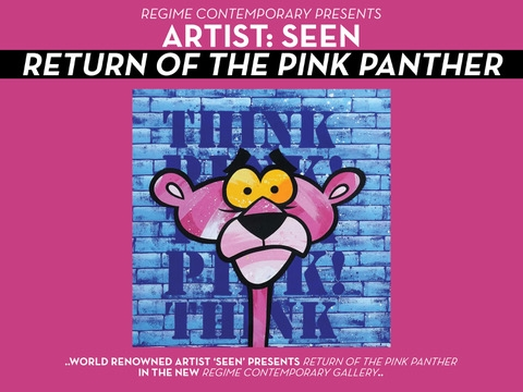"""SEEN: RETURN OF THE PINK PANTHER - October 25, 2018 from 8 PM – 12 AMOn October 25th, to celebrate the grand opening of the Regime Contemporary, legendary artist SEEN presents his """"RETURN OF THE PINK PANTHER"""" exhibit."""