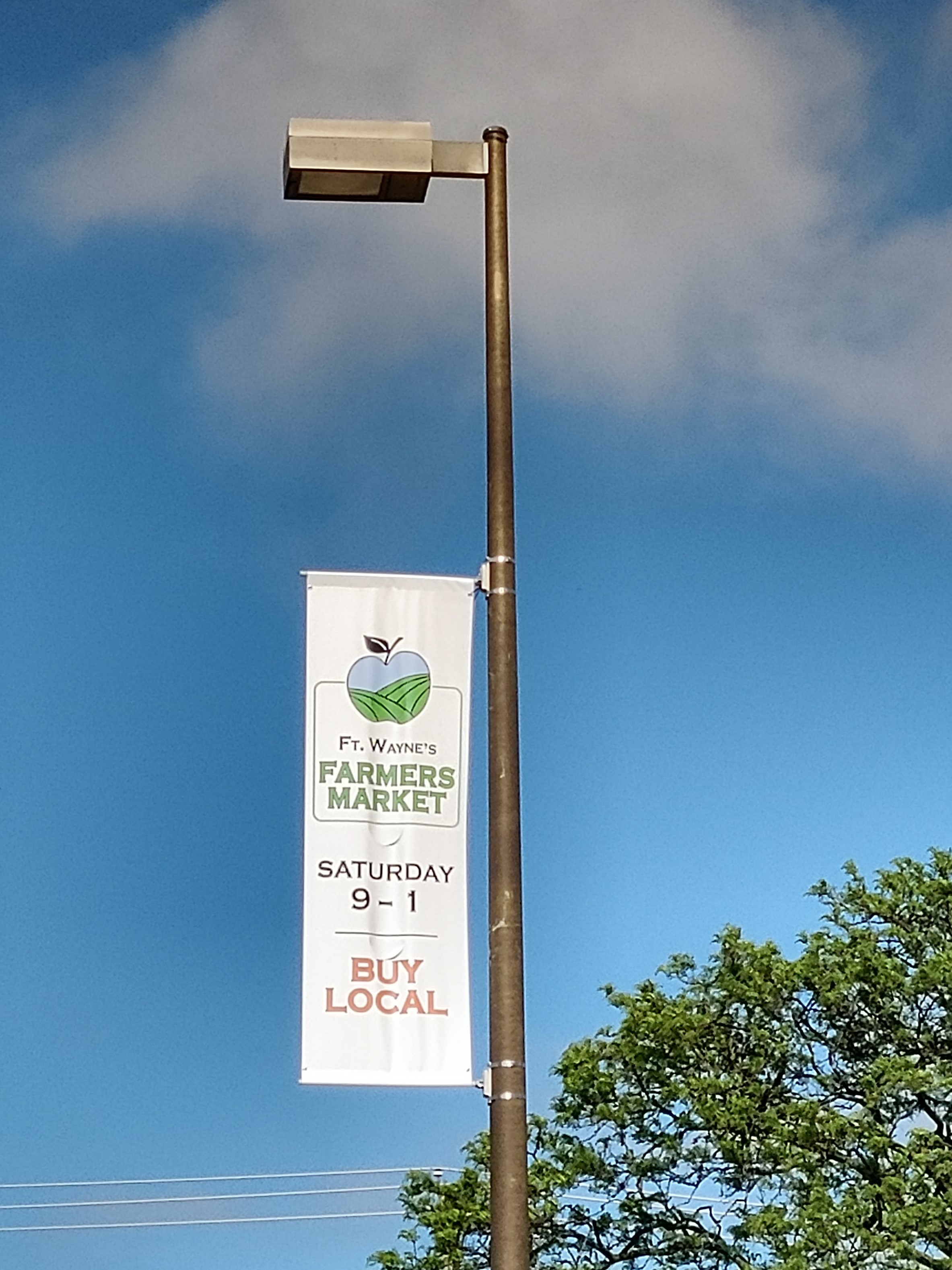 30 FWFM Banners are up to highlight our market throughout downtown Fort Wayne