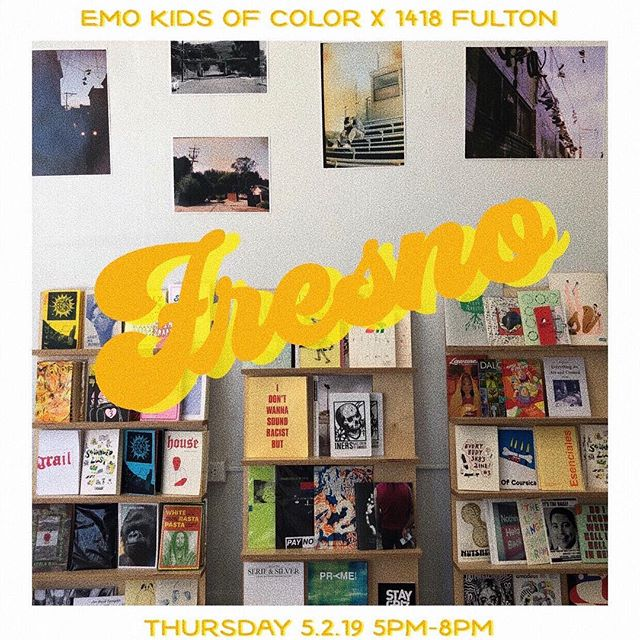 Hey #Fresno ‼️ Less than 3 more days until the Homecoming Art Exhibit @1418fulton ⭐️ Starts at 5PM. We hear there will be food trucks, music and an all around GOOD TIME 🤙🏽⠀ ⠀ ⠀ ⚡️ #emokidsofcolor are a collective of artists who use art to escape anxiety, depression, and being broke kids of color from marginalized neighborhoods.