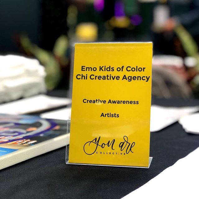 Thank you 🙏🏽 for stopping by our @emo_kids_of_color booth  yesterday for the @youarecollectve event at @eastridgecenter 🌈 It is SO important we talk about mental health and are so thankful communities are coming together to create awareness. 💛  #YouArePopUp #MentalHealthforCreatives #EastridgeCenter #WomenandWellness2019