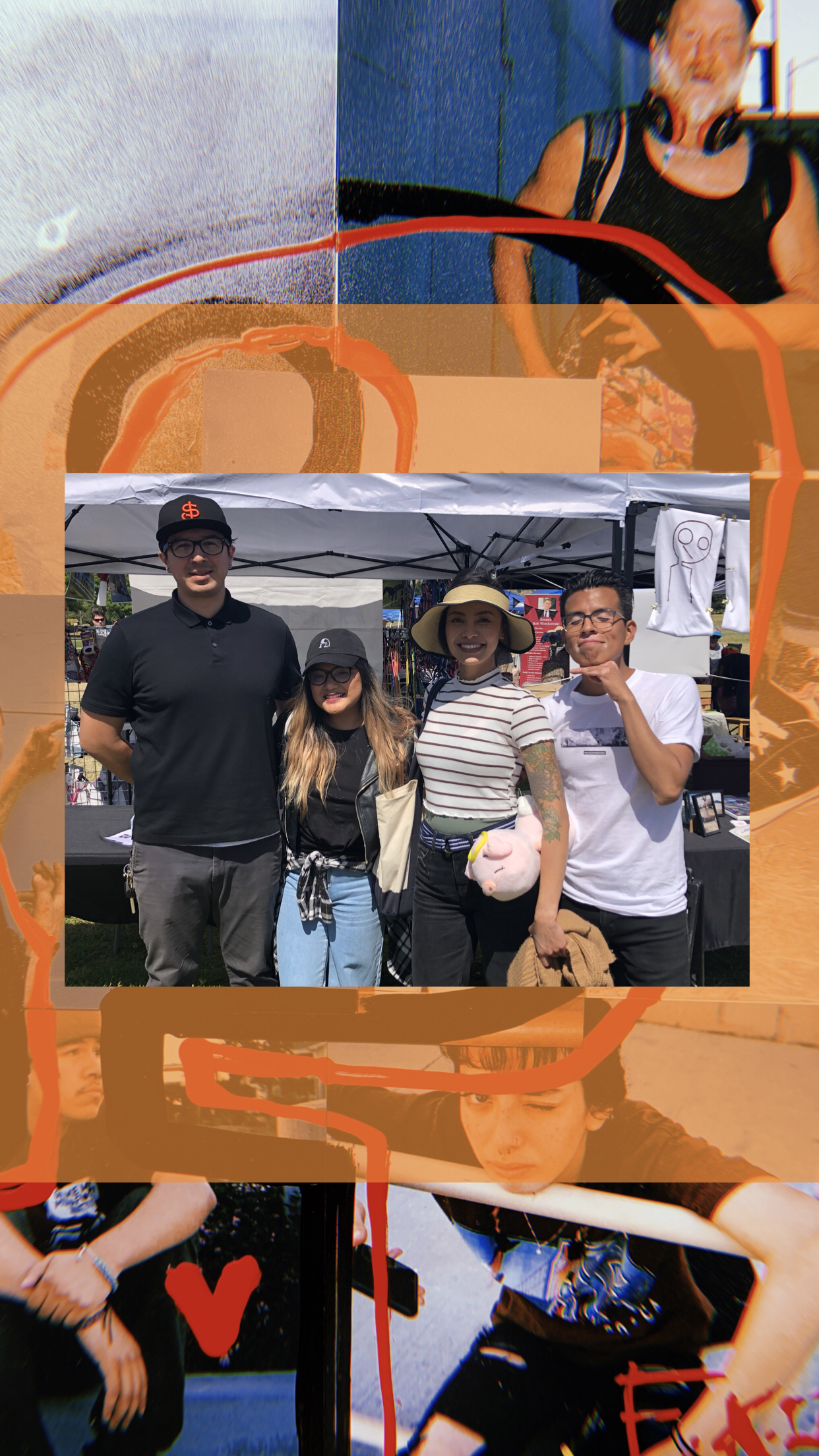 Emo Kids of Color with Levy Tran at Berryessa Art and Wine Festival in San José, Ca