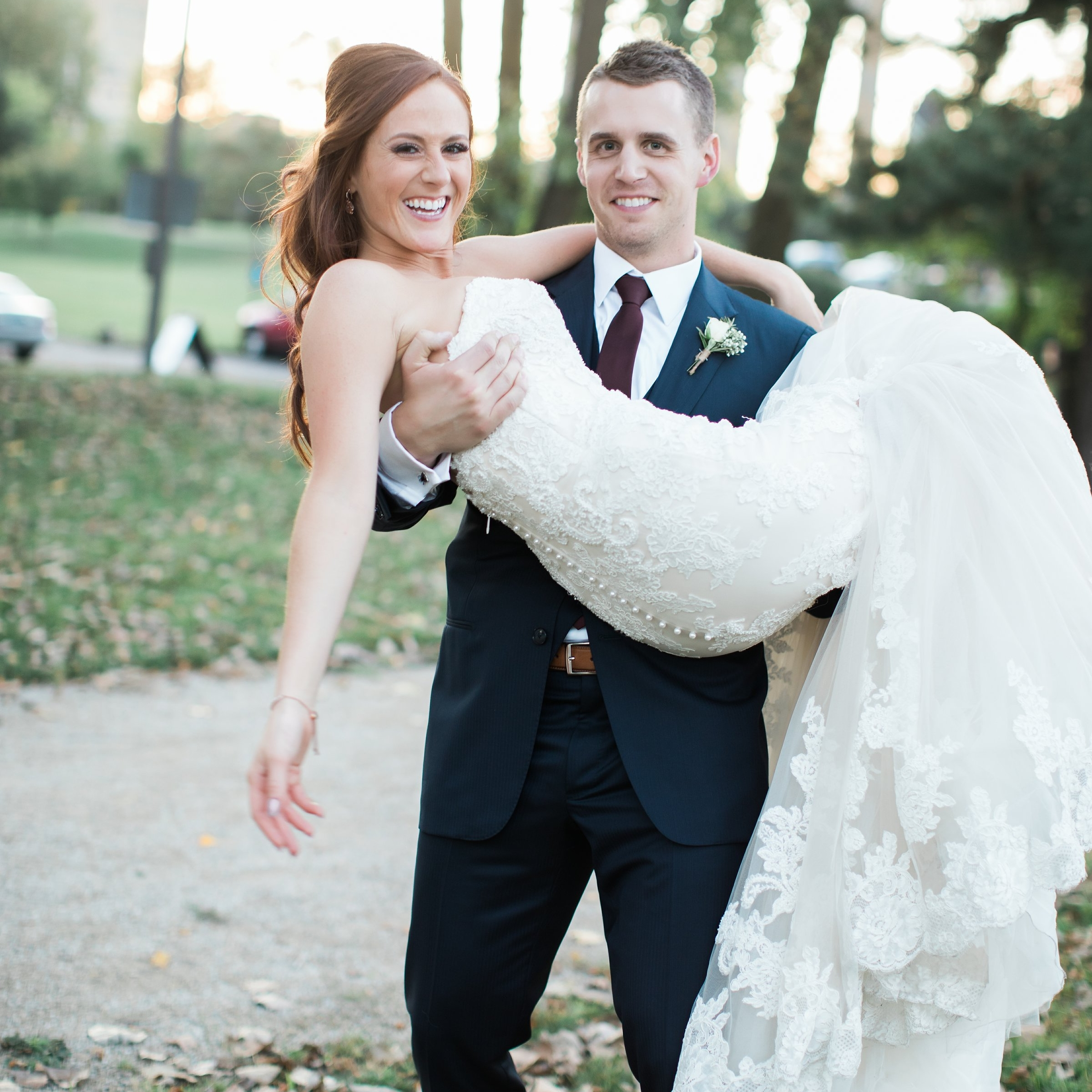 I'm in the business of carefree days - because the most important detail, of any wedding, is a happy couple