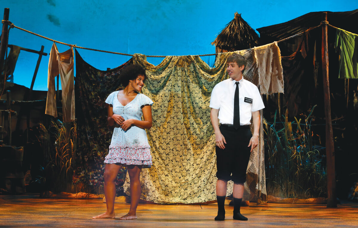 Zahra Newman and A.J. Holmes in The Book of Mormon.  ©  Jeff Busby.