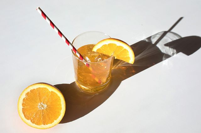 Mezzo Spritz. A refreshing twist on the Italian cocktail, made with American cider, sparkling water, and botanicals. Mezzo Spritz Blood Orange is out now!